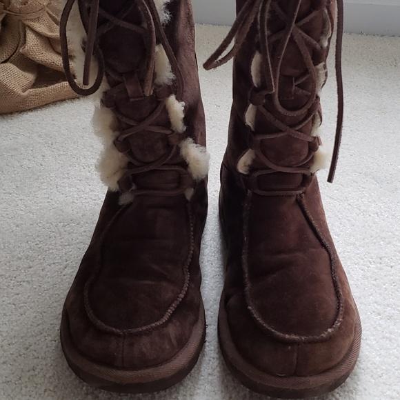 af9d13798a5 UGG Tularosa Tall Lace Up Vintage Boots